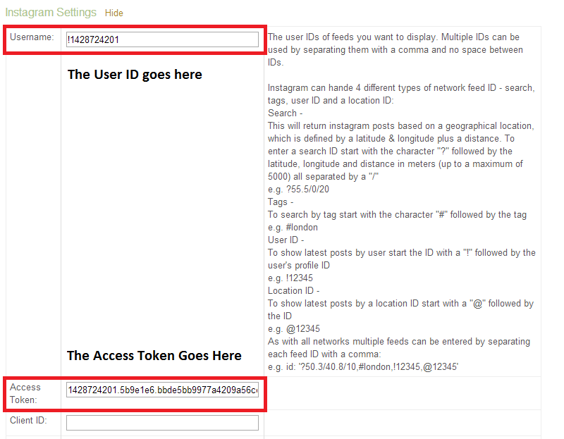 Acquiring your Instagram Access Token and User ID - Powered by